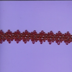 "5 Yds     1 1/8""   Cranberry Gimp Braid   3457"