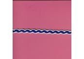 "5 Yds   3/8""  Royal Blue/White Wave Braid  3494"