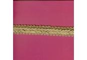 """5 Yds   3/4""""    Tan Chinese Crinkle Ribbon Trim   3613"""