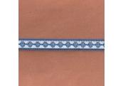 "5 Yds  5/8""  Blue/White Flat Braid Ribbon  4454"