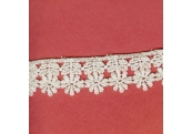 "5 Yds    1""    White Venice Lace Trim   3482"
