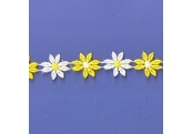 "5 Yds 1""  Yellow/White Venice Daisy  4983"