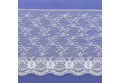 "5 Yds 6 3/4""  White Rachel Lace  4234"