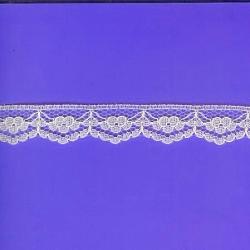 "100 Yds  Full Spool 3/4""   Ecru Scalloped Lace   1918"