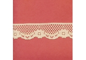 """100 Yds   1 1/4""""    Beige Scalloped Lace  3208"""