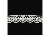 "100Yds   1 3/8""    Ivory Scalloped Lace     3654"