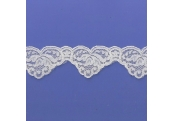 "5 Yds  1 3/4""  Ivory Scalloped Lace  4158"