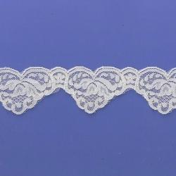 "5 Yds  1 3/4""  Ivory Scalloped Lace  4158"