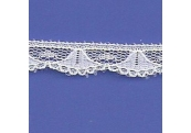 "5 Yds  3/8""  White Scalloped Lace   4280"