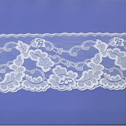 """6 Yds  4""""   White Lace   4645"""