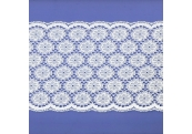 "5 Yds 5 3/4""  White Nylon Lace  4752"