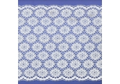 "5 Yds 7 1/2""  White Nylon Lace  4753"