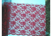 "1 Yds  16""   Red Ice Allover Lace   1953"