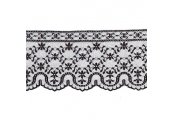 "5 Yds 4""  Black Raschel Lace 4660"